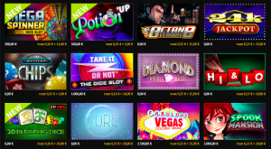 Goldenvegas.be casino games