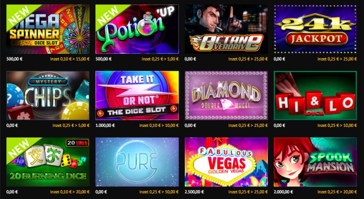 Goldenvegas.be casino games